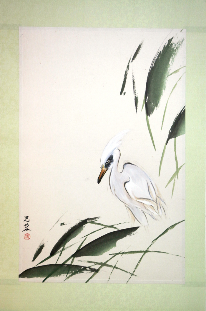 Egret In The Grass, 1999
