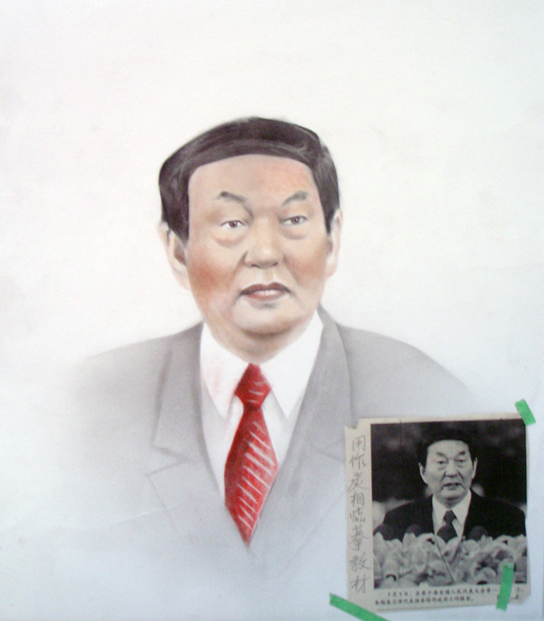 Homework - Politician with red tie, 2003