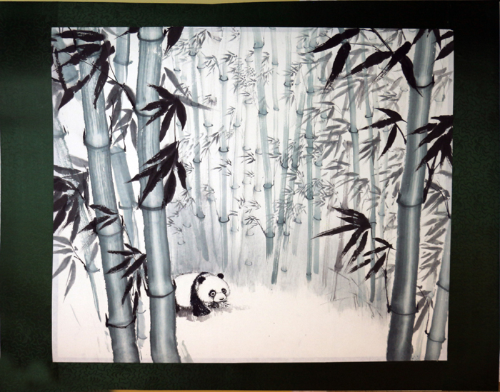 Panda Eating In The Bamboo Forest, 2004